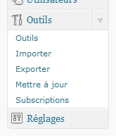 Outils exporter wordpress