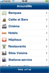 aroundme iphone application
