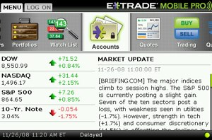 application blackberry etrade mobile pro