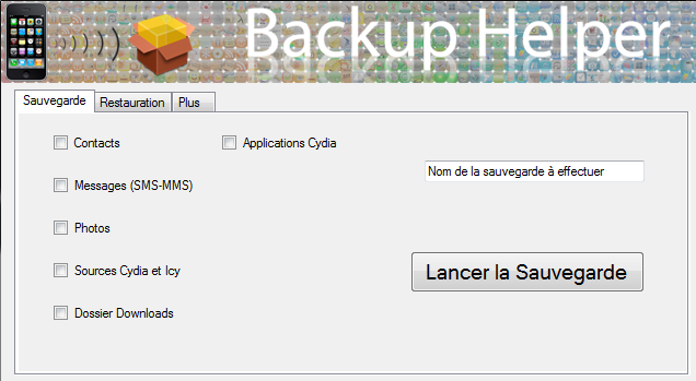 logiciel backup helper