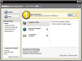 mcafee virusscan aol