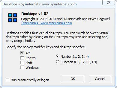 Desktops Windows Sysinternals