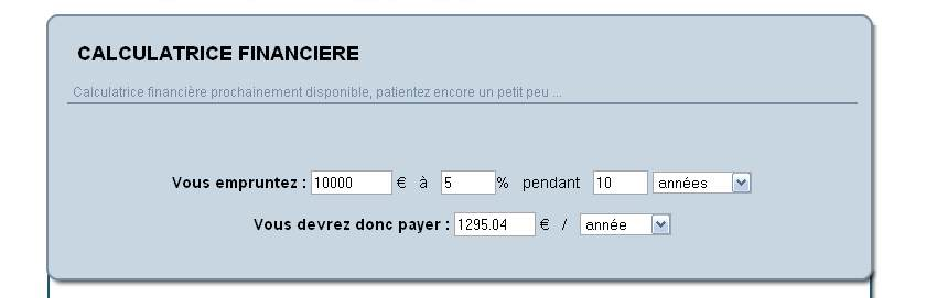 calculatrice financiere