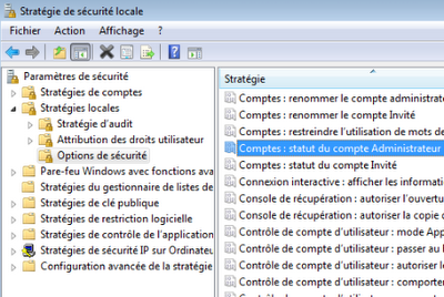compte grand administrateur windows 7