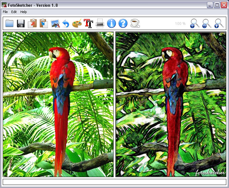 fotosketcher convertir photo en dessin
