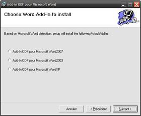 Gérer les fichiers OpenDocument dans Word