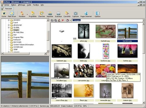 XNView  Visualiser, retoucher et convertir des fichiers image