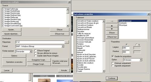 XNView convertir des fichiers image