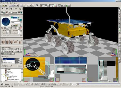 logiciel de modélisation et d´animation 3D en temps