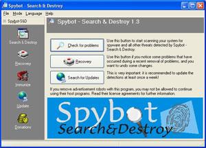 spybot logiciel de detection de spywares