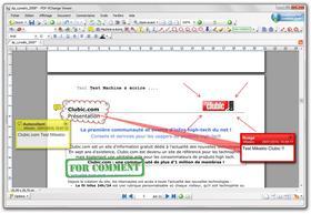 commentaire dans un fichier pdf