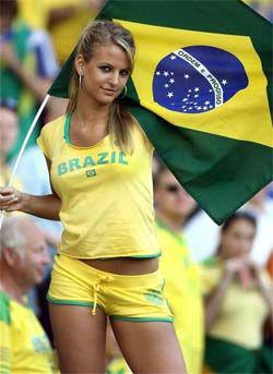 belle supportrice du Brésil