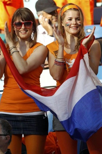 belle supportrice hollandaise