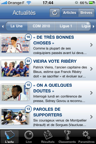 info foot iphone