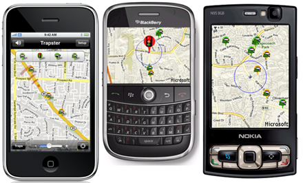 radar gratuit iPhone  BlackBerry