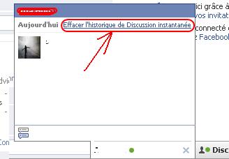 Comment supprimer l'historique de conversation facebook