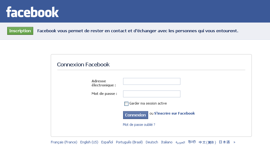 comment se connecter a facebook