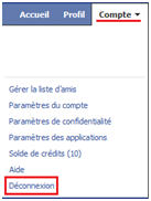 comment se deconnecter de facebook