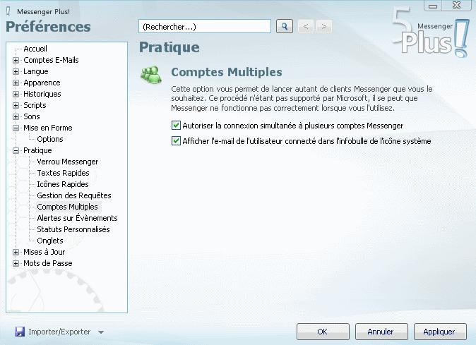 se connecter a plusieurs compte msn