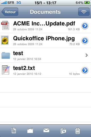lire fichier excel ou word sur iphone