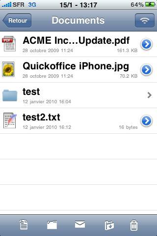 lire fichier excel ou word sur iphone