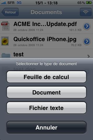 ouvrir fichier excel ou word sur iphone