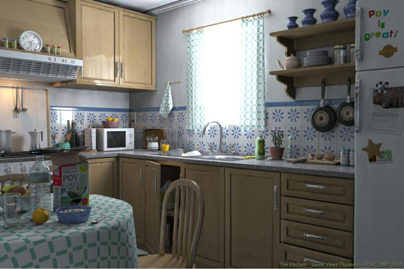 kitchen animation realiste