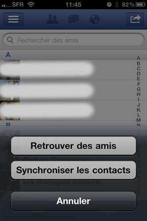Synchroniser contact facebook iphone