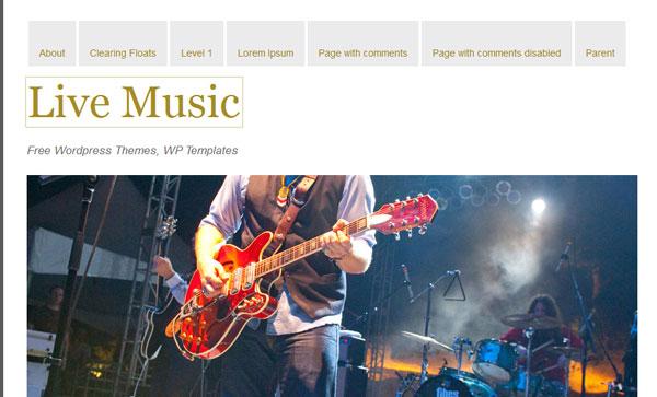live-music theme gratuit a telecharger