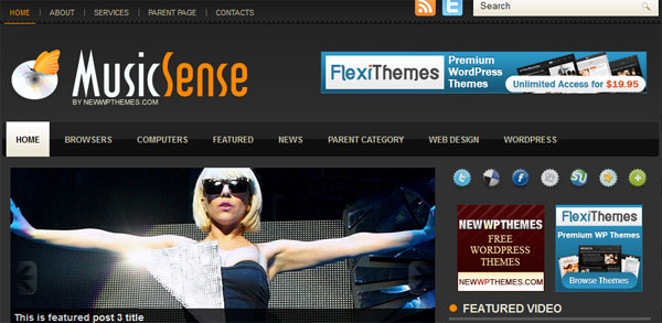 theme muique wordpress