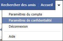 parametre de confidentialite facebook