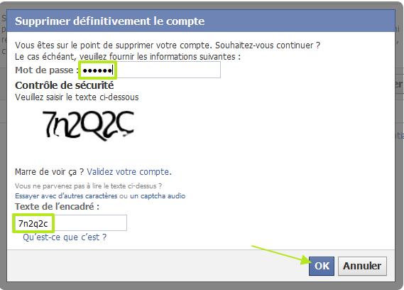 supprimer definitivement le compte facebook