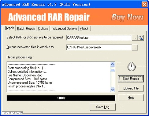 ADVANCED RAR REPAIR reparer winrar