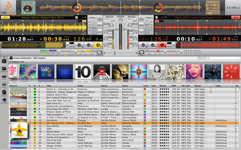CrossDJ Free logiciel musique mixage