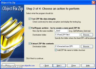 OBJECT FIX ZIP reparer zip