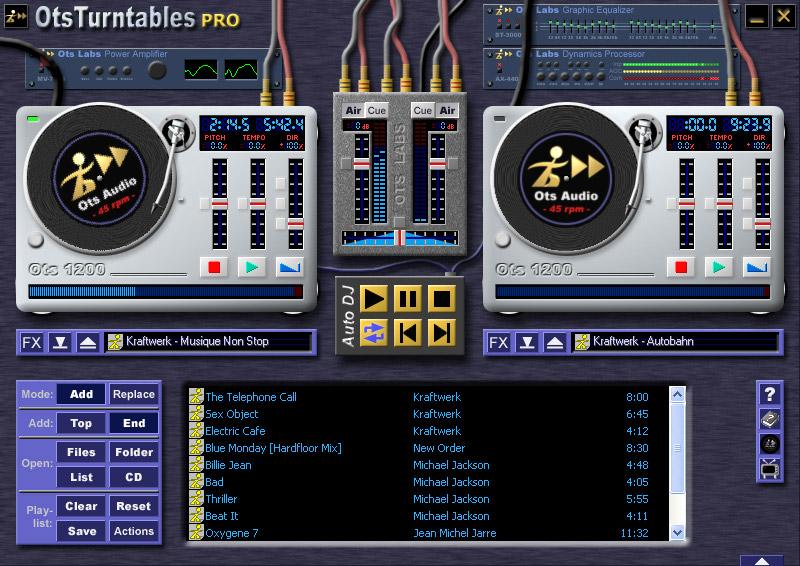 Ots Turntables logiciel musique mixage