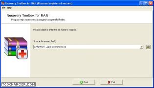 RECOVERY TOOLBOX FOR RAR  reparer winrar