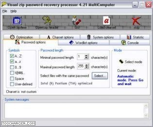 VISUAL ZIP PASSWORD RECOVERY PROCESSOR  retrouver mot de passe