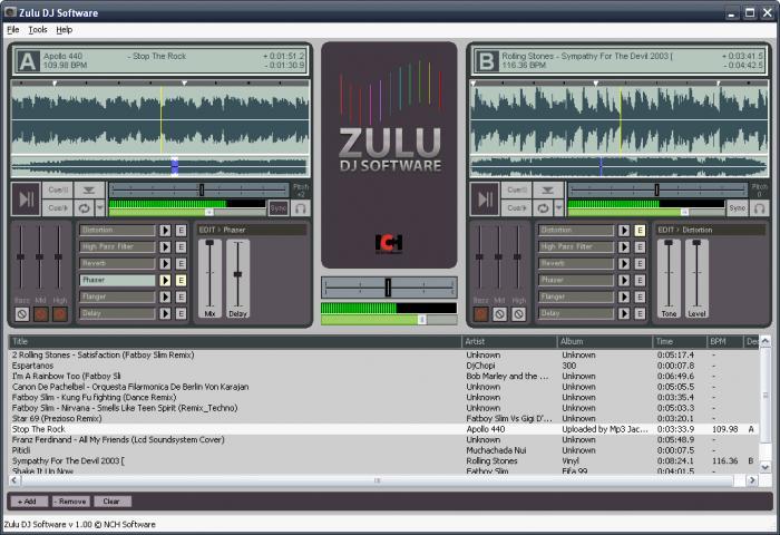 Zulu Virtual DJ logiciel musique mixage