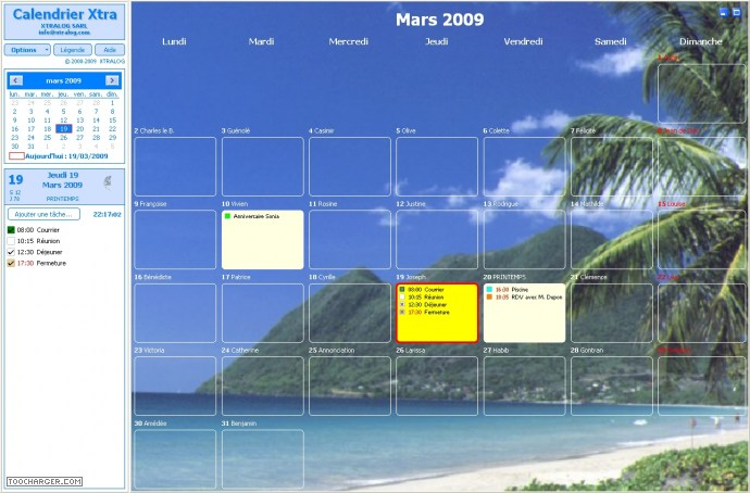 agenda pour windows