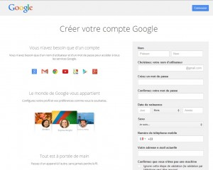 creer compte gmail