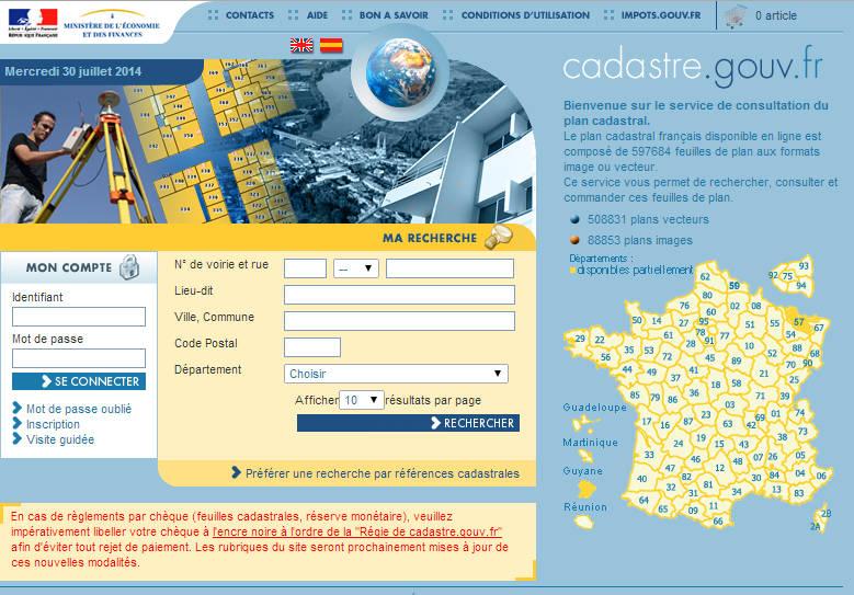 Comment trouver un plan cadastral site en ligne gratuit for Comment trouver des plans