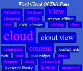 ToCloud generateur de nuage de mots